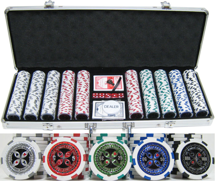 New Ultimate Poker Chip 13.5g Clay Poker Chip Set–500Pcs–Updated Design! (0)