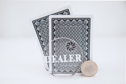 Clear Acrylic Dealer Button