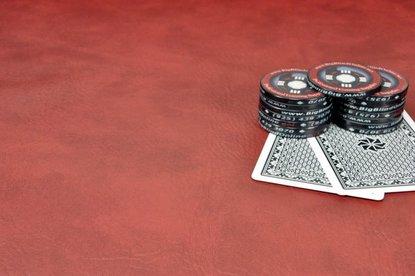 Premium Poker Table Armrest Vinyl - Vivid Burgundy - 9ft Sheet