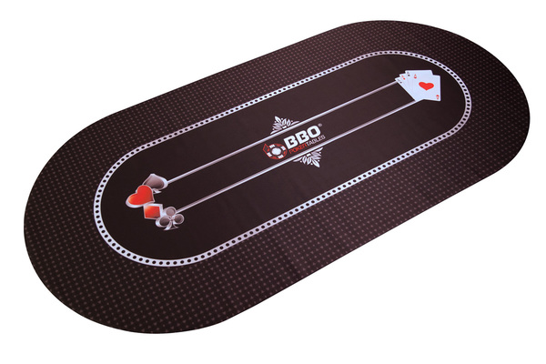 Portable Poker Party Mat - Black