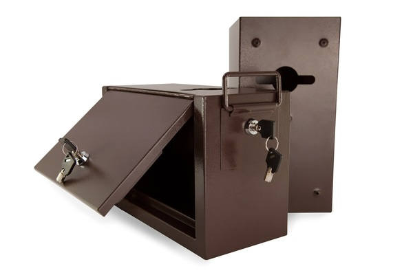 Jumbo Metal Casino Drop Box w/ Side Lock