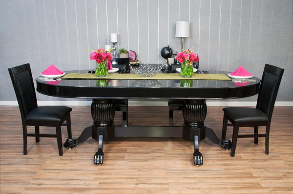 Black Oval Dining Top