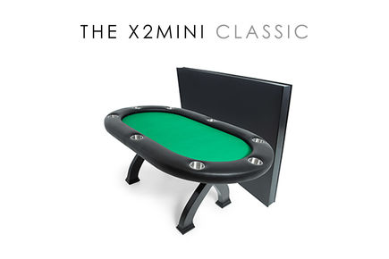 X2 Mini Poker Table with dealer section