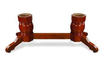 Napa Pedestal Leg Set - Mahogany