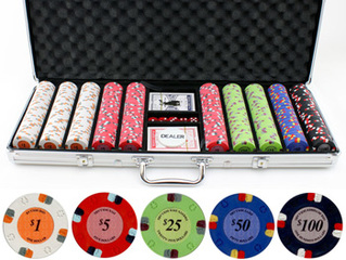13.5g 500pc Lucky Horseshoe Clay Poker Chips Set