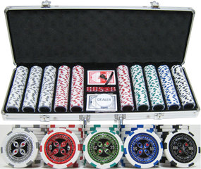 New Ultimate Poker Chip 13.5g Clay Poker Chip Set–500Pcs–Updated Design!
