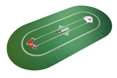 Portable Poker Party Mat - Green