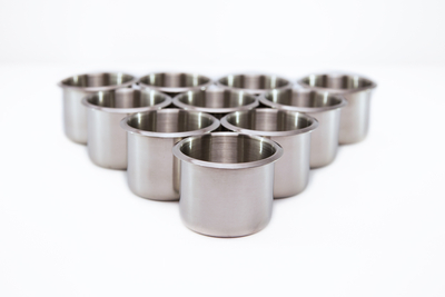 3in Standard Stainless Steel Cup Holders x 10