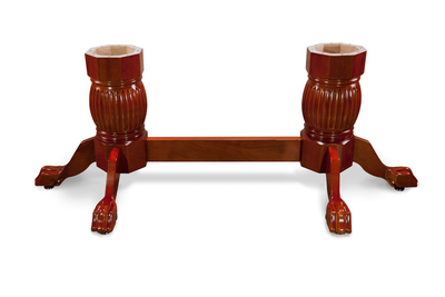 Heritage Pedestal Leg Set with Beam - Mahogany