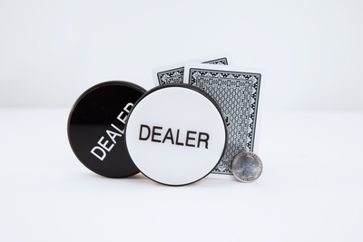 Black and White dealer Button