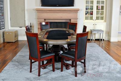 Classic Poker Table Chairs - Mahogany